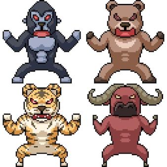 Animal selvagem de pixel art