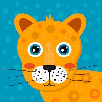 Animal tropical de desenho animado infantil