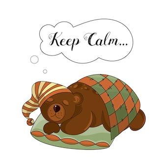 Animal vector set ilustração calm bear