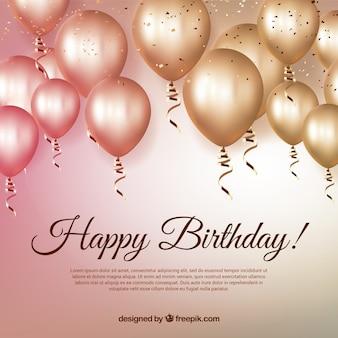 Aniversário balão de fundo