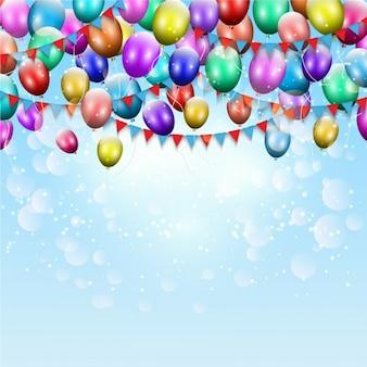 Aniversário balões cor de fundo