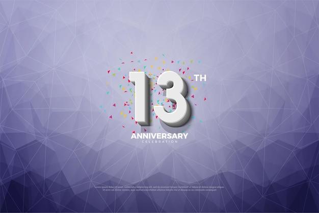 Aniversário com ilustração de fundo de papel de cristal