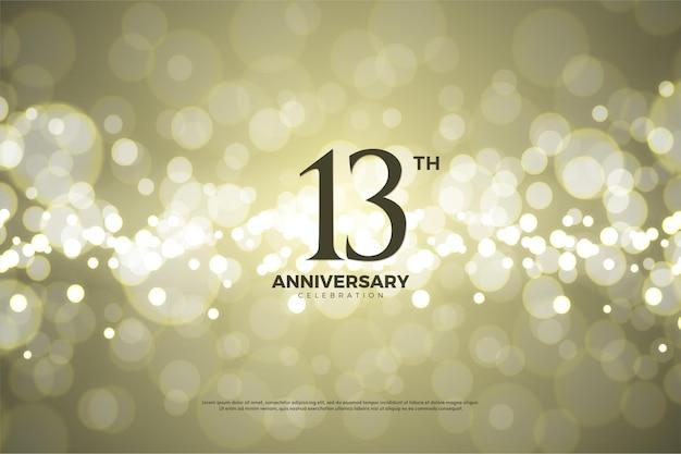 Aniversário com ilustração de fundo de papel dourado