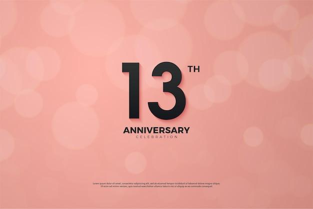 Aniversário com números em fundo rosa