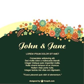Aniversário convite floral para eventos de vida