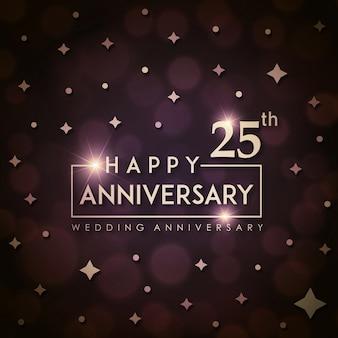 Aniversário de casamento do royal 25 de luxo