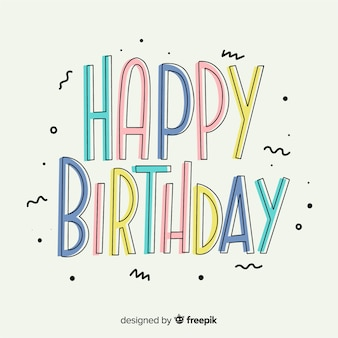 Aniversário de letras