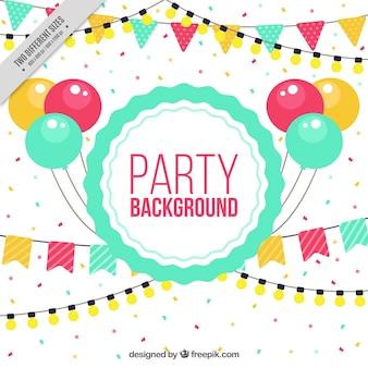 Aniversário elementos do partido fundo