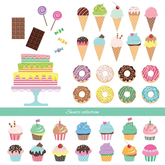 Aniversário, jogo, com, doces