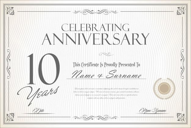 Aniversário retro vintage 10 anos