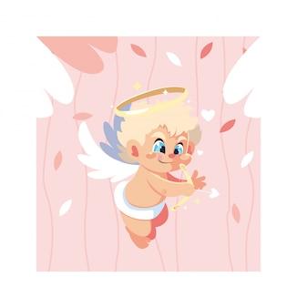 Anjo bonito cupido, dia dos namorados