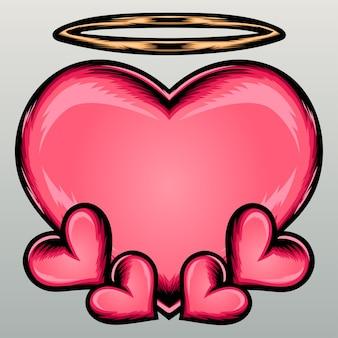 Anjo bonito do coração.