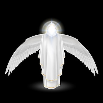 Anjo branco no preto