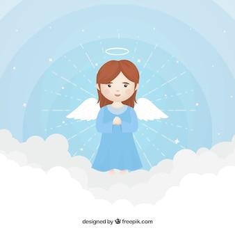 Anjo de natal no céu