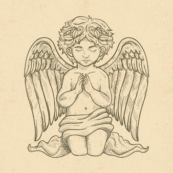 Anjo de natal vintage