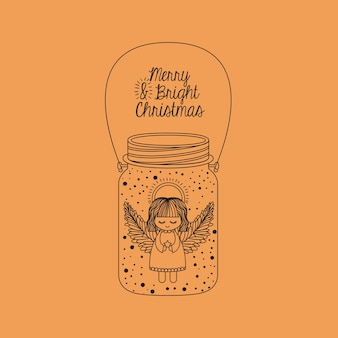 Anjo dentro do ícone de frasco de pedreiro