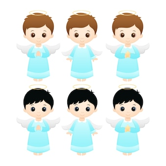 Anjos do rapaz pequeno