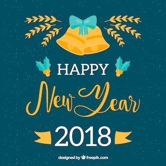 Ano novo 2018 background de celebração