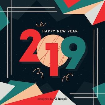 Ano novo 2019 bandeira