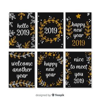 Ano novo 2019 cartão