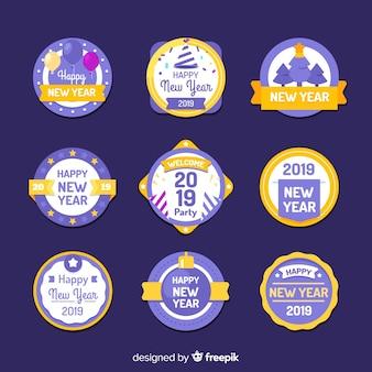 Ano novo, 2019, etiquetas, jogo
