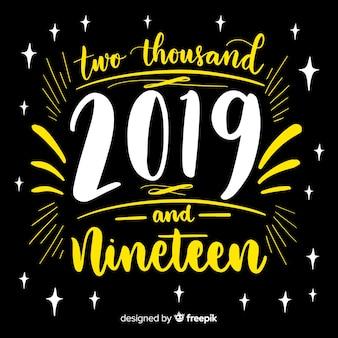 Ano novo, 2019, lettering