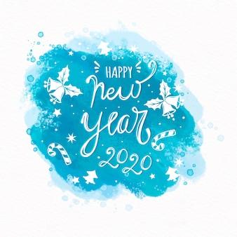 Ano novo 2020 com letras