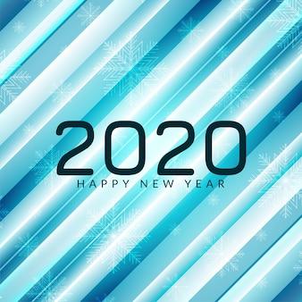 Ano novo 2020 elegante fundo azul