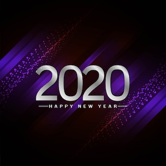 Ano novo 2020 fundo elegante decorativo