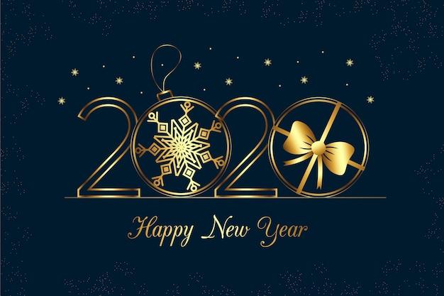 Ano novo 2020 fundo no estilo de estrutura de tópicos
