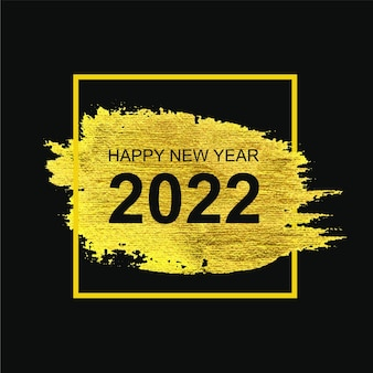 Ano novo 2022 com pincelada dourada