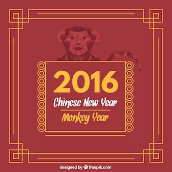 Ano novo chinês com quadro