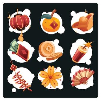 Ano novo chinês item conjunto de decoração