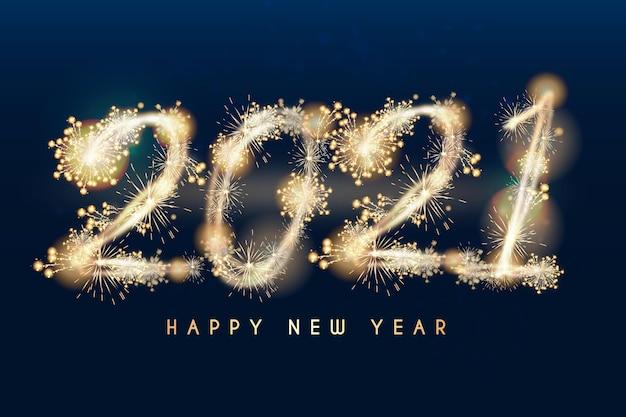 Ano novo de 2021 realista