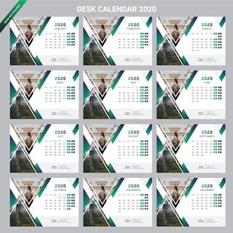 Ano novo de calendário de mesa de negócios