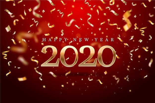 Ano novo de confetes de fundo