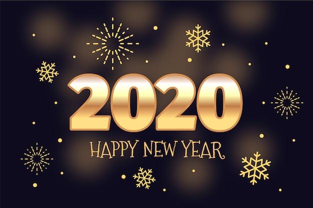 Ano novo de fundo dourado