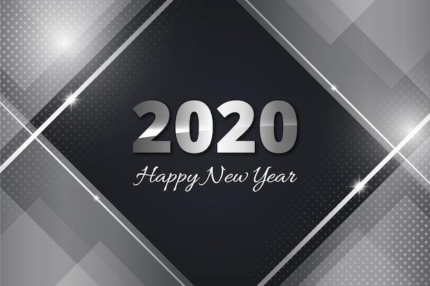 Ano novo de prata 2020 papel de parede