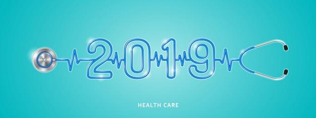 Ano novo de saúde e médico 2019