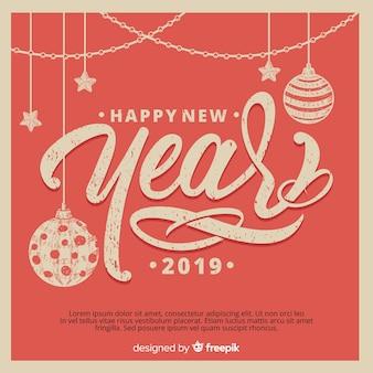 Ano novo desgastado efeito fundo