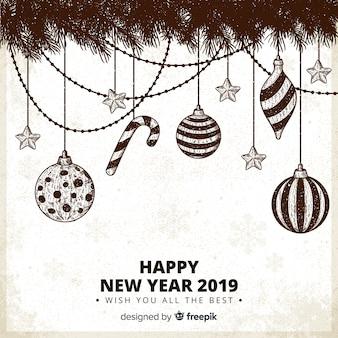 Ano novo desgastado fundo de decoração