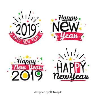 Ano novo divertido coleção de adesivos