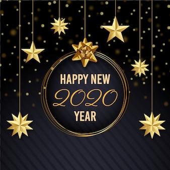 Ano novo dourado 2020 papel de parede