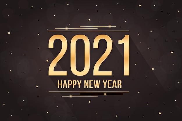Ano novo dourado de 2021