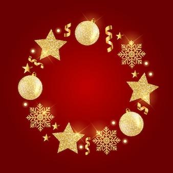 Ano novo e feliz natal de fundo