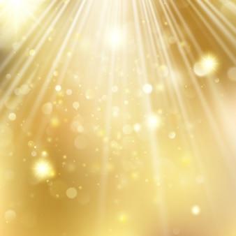 Ano novo e fundo desfocado de natal com estrelas piscando.