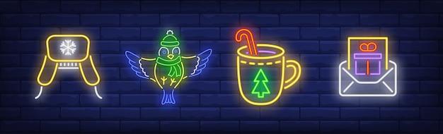 Ano novo em coleção estilo neon