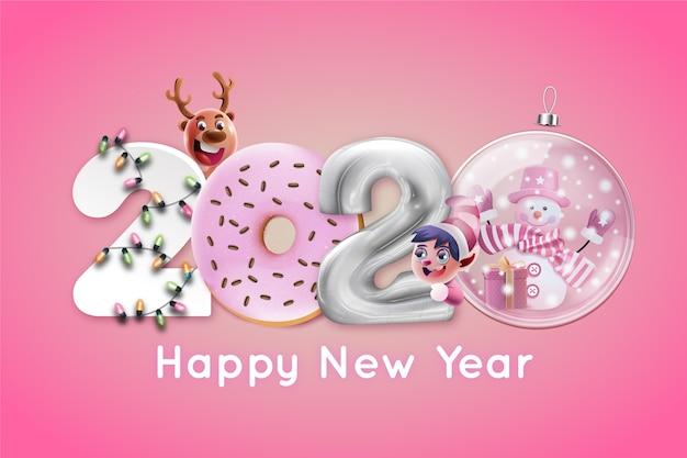 Ano novo engraçado 2020 papel de parede