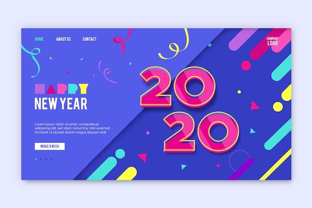 Ano novo estilo simples da página de destino