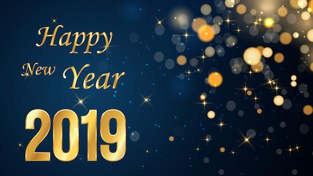 Ano novo fundo desfocado